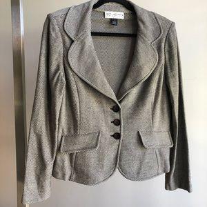 St. John Collection Chevron Wool Cardigan Jacket
